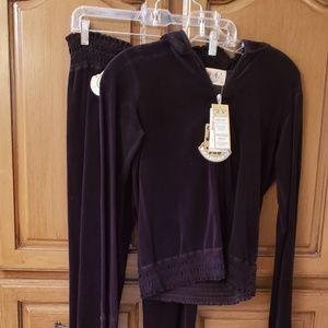 Juicy Couture black velour track suit